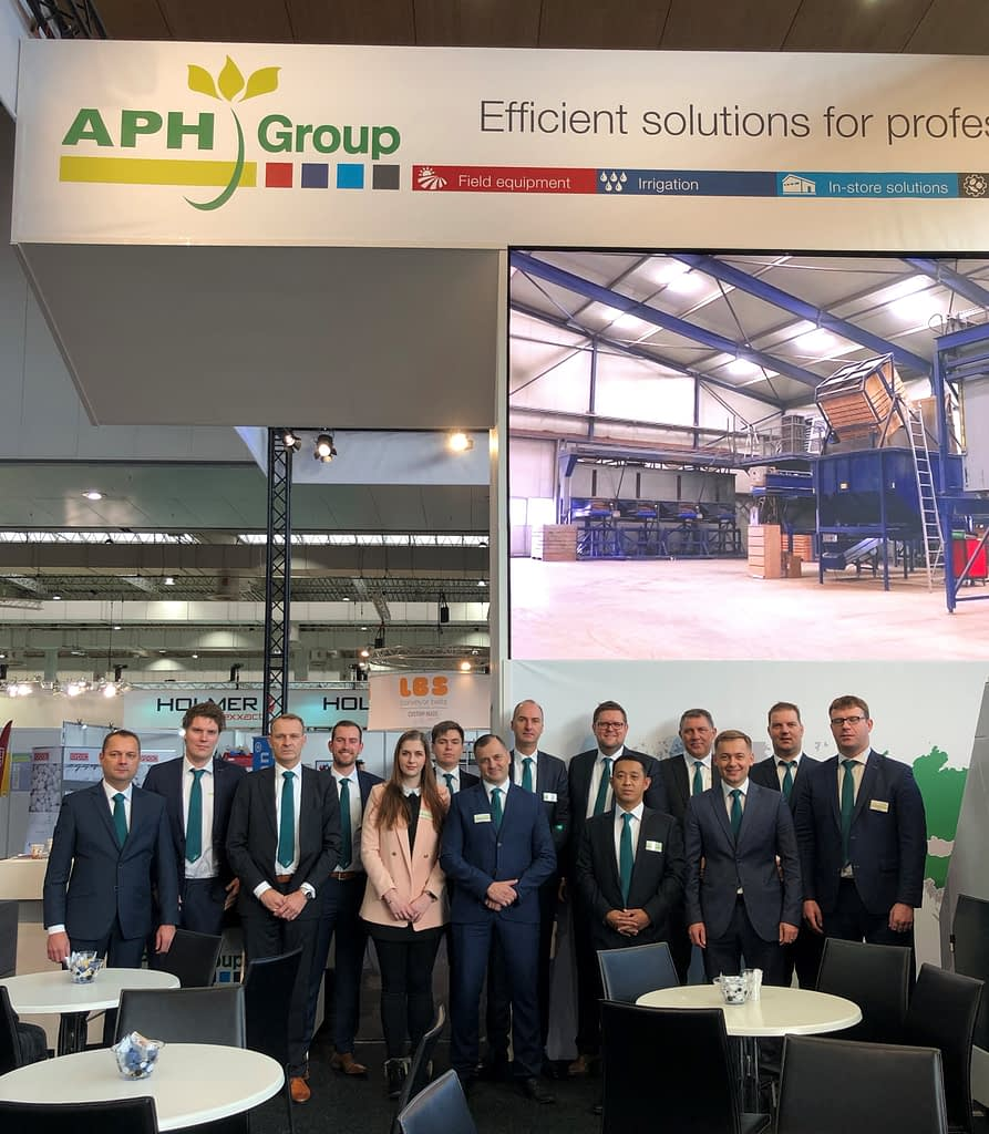 APH Group team photo during Agritechnica 2019
